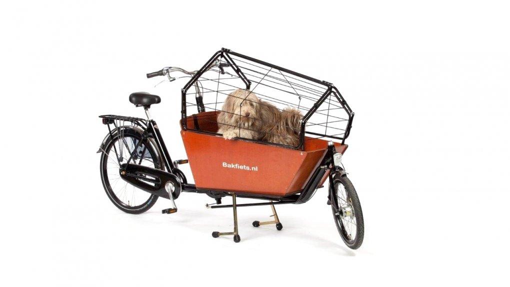 Banc chien pour biporteur long Bakfiets.nl .noir