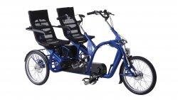 Tandem tricycle côte à côte avec assistance électrique