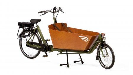 Biporteur électrique long Bakfiets.nl Big Apple, jusqu'à 3 enfants dans le coffre