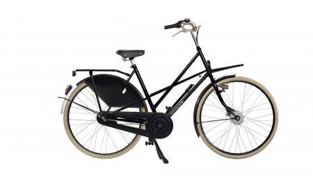 Cross Low Exclusive noir 49 cm avec porte-bagages avant et arrière