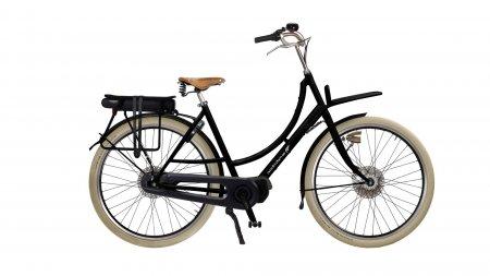 Double Dutch électrique noir 55 cm avec moteur pédalier STEPS et boîte Enviolo Nu Vinci