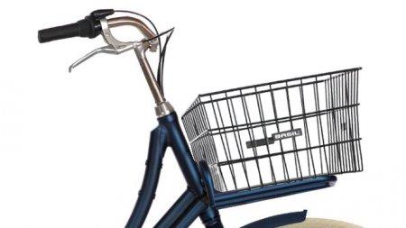 Panier métallique pour vélo avec porte-bagage avant