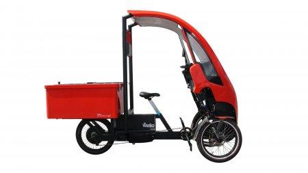 Ttriporteur Wello PREMIUM version Pick-Up avec carrosserie rouge