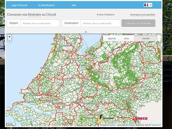 Concevez vos Itinéraires sur le site holland.com