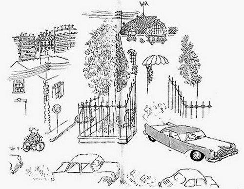Le pauvre a enfin le droit à une mobylette et le riche lui se paye le luxe d'une belle voiture américaine