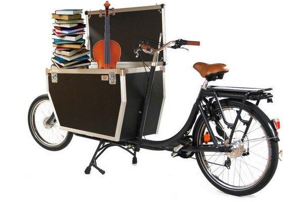 Vélo coursier biporteur Babboe cargo