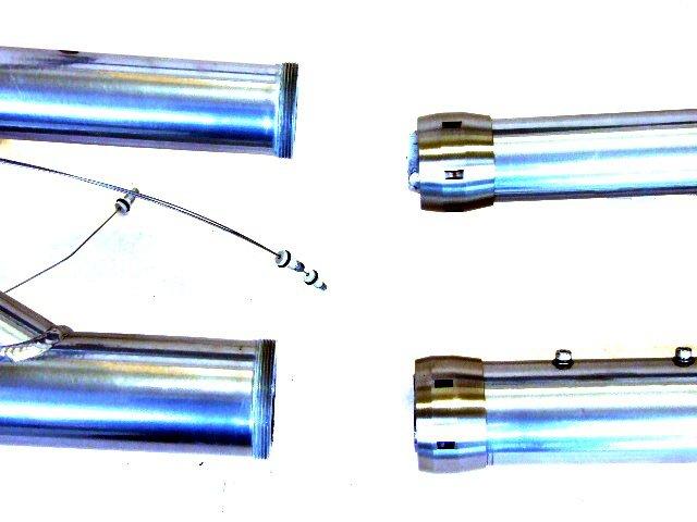Un raccord conique pour démonter un vélo ou un tandem et le ranger dans une soute d'avion