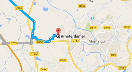 plan vers vélo hollandais Amsterdamer