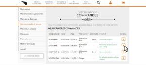 informations commandes Amsterdam Air bon de retour formulaire de rétractation