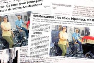 Amsterdam Air presse vélo hollandais triporteur tendance
