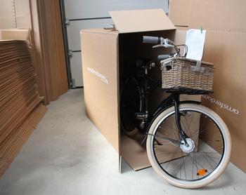 Vélo amsterdamer en carton