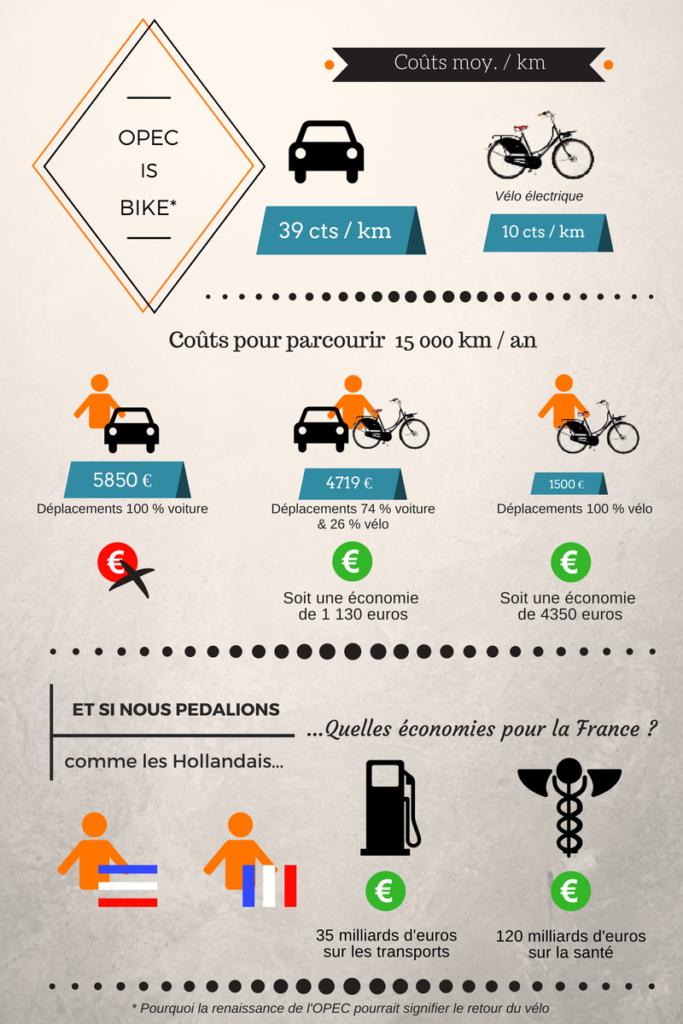 Estimation des économies sur les transports et sur la santé publique que permettrait une pratique en France du vélo aussi intensive qu'aux Pays-Bas