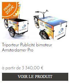 Prime velo Amsterdam Air triporteur electrique
