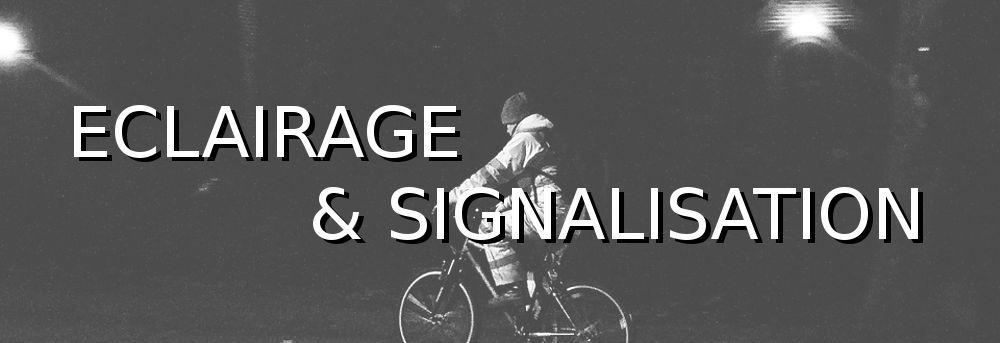 Eclairage et signalisation code de la route vélo