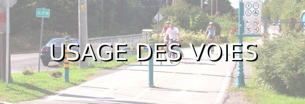 Code de la route vélo usage des voies routes et pistes cyclables