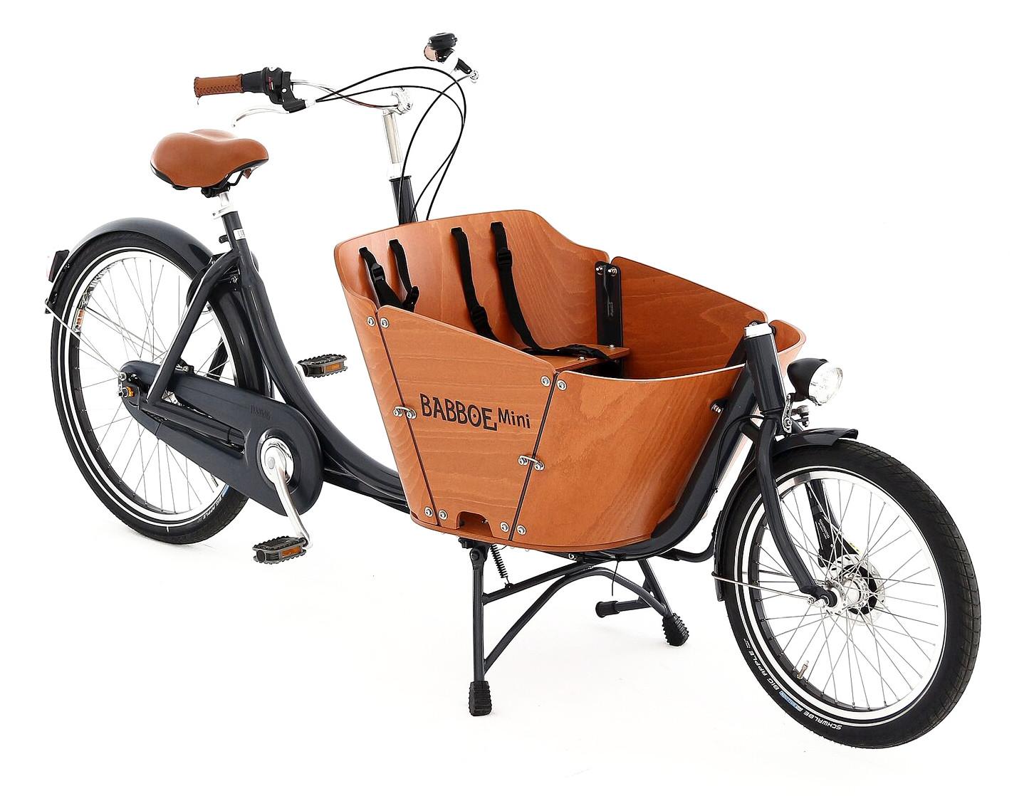 Biporteur Mini Babboe - vélo famille - Blog vélo Amsterdam Air - Nouveauté