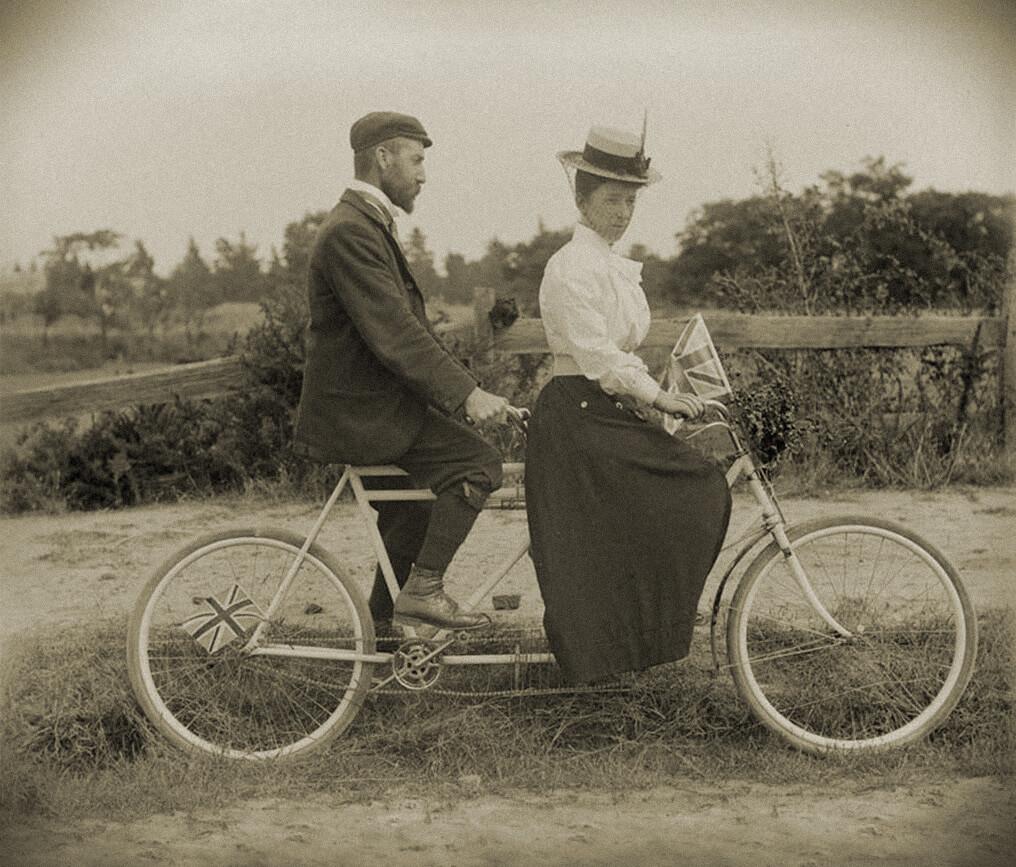 Un tandem en 1900