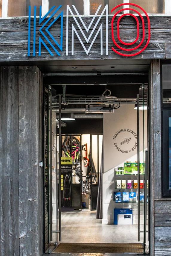L'entrée de la boutique Le Kilomètre Ø