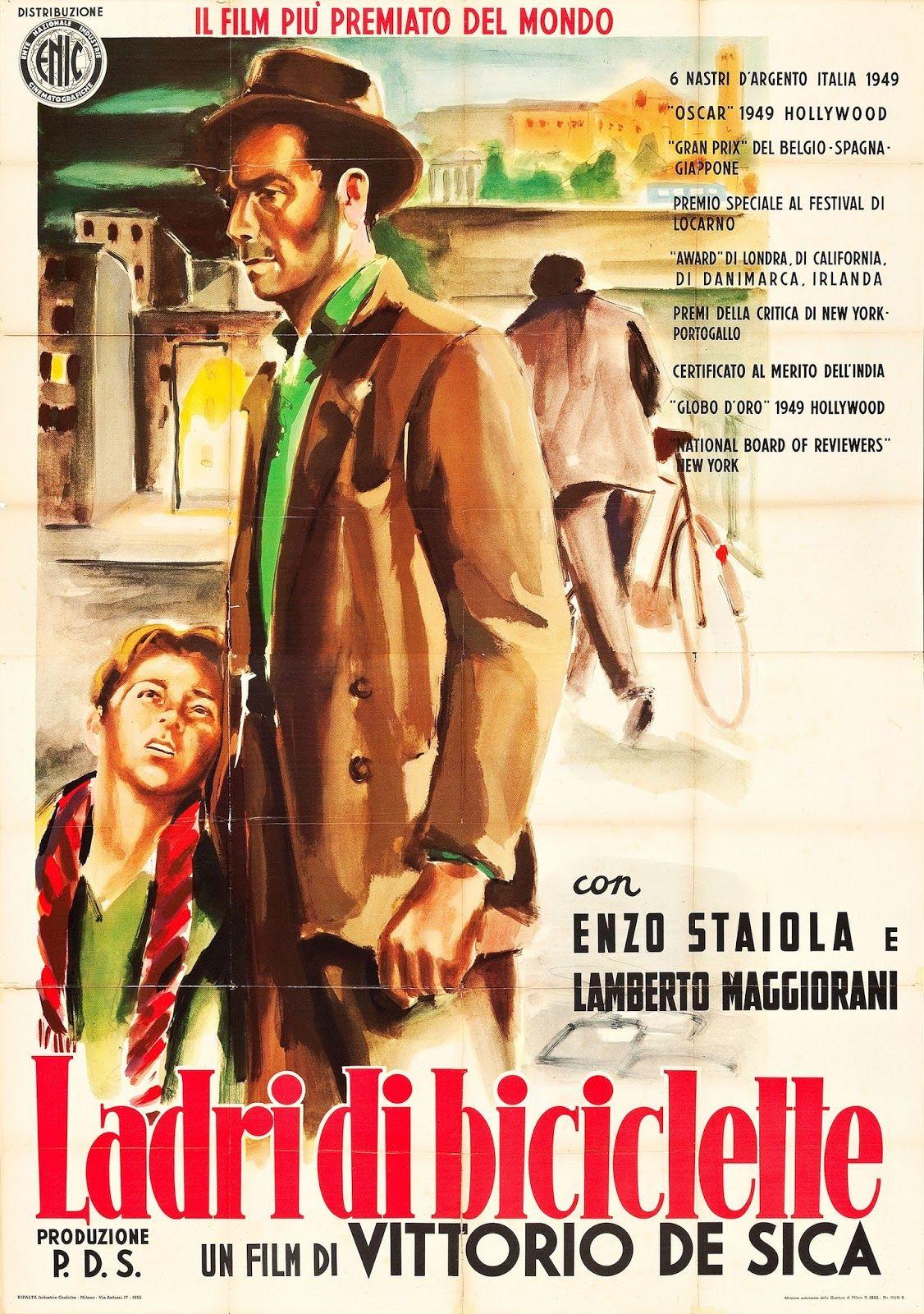 Affiche italienne du Voleur de bicyclette
