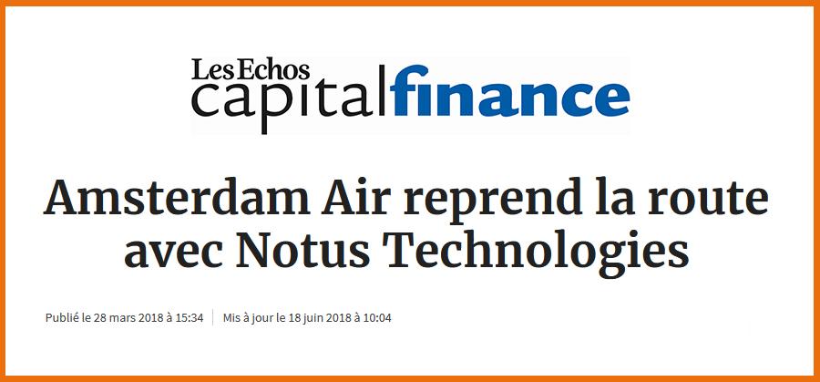 Article Les Échos Capital Finance