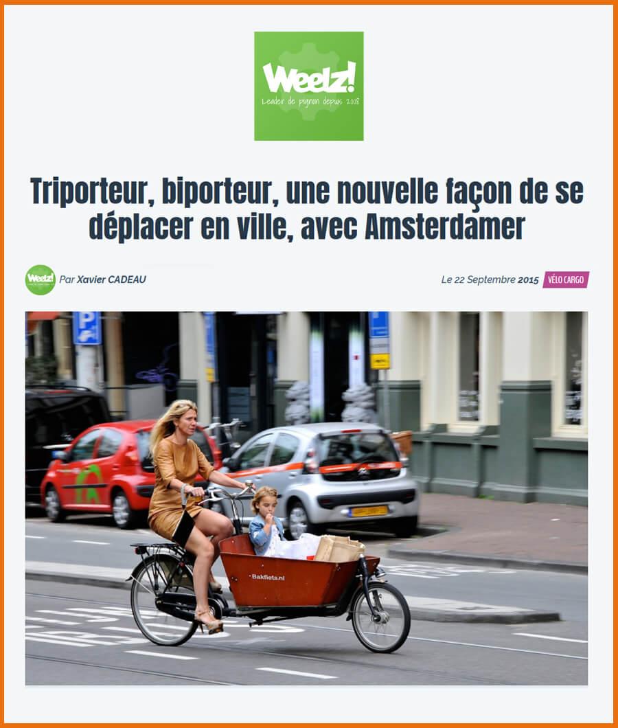 Article de Weelz, le magazine web du vélo