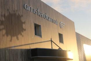 Façade du nouveau bâtiment Amsterdam Air