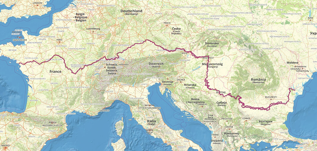 Le long parcours de l'EuroVélo 6