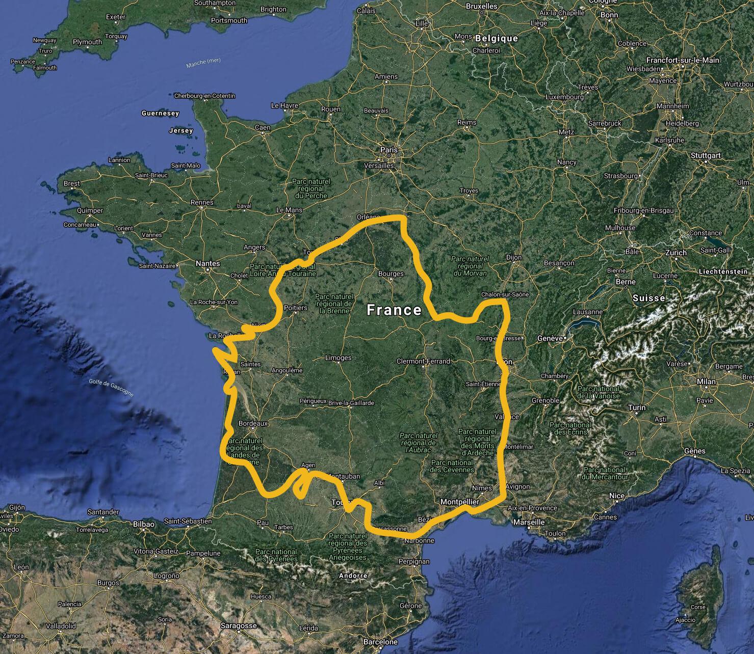 Le parcours de Thomas Sorel pendant les 8 mois de son tour de France