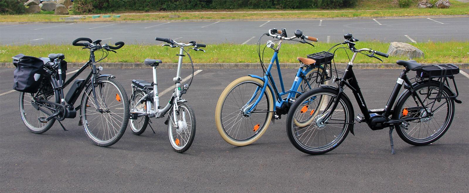 4 modèles de vélos électriques vendus par Amsterdam Air